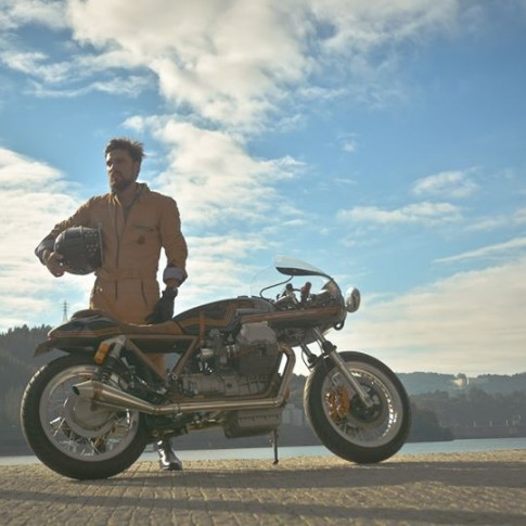 Racer Leather Overalls by Ton-up Garage