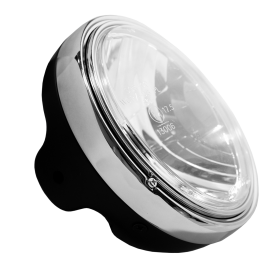 "Headlight 7"" LTD - Black/Chrome"