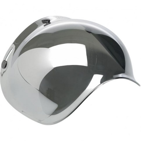 Biltwell Bubble Visor - Chrome Mirror